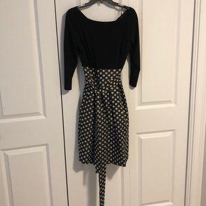 Eliza J polka dot dress